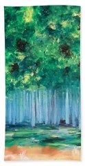 Enchanted Poplars Hand Towel