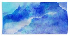 Hand Towel featuring the digital art Enchanted Scenery #4 by Klara Acel