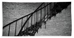 Hand Towel featuring the photograph Enchanted Staircase II - Currituck Lighthouse by David Sutton
