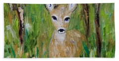 Hand Towel featuring the painting Enchantment by Judith Rhue