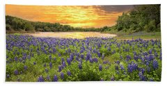 End Of A Bluebonnet Day Hand Towel