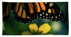 End Of Summer Monarch Bath Towel