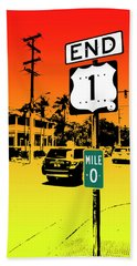 End Of The Road Hand Towel by Timothy Lowry