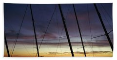 End To A Day Of Sailing  Bath Towel