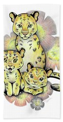 Endangered Animal Amur Leopard Hand Towel