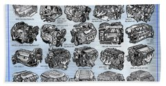 Eng-19_corvette-engines Bath Towel