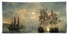 Engagement Between The 'bonhomme Richard' And The ' Serapis' Off Flamborough Head Hand Towel