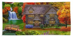 England Country Autumn Hand Towel