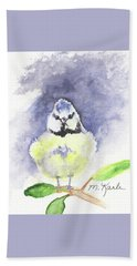 English Blue Tit Hand Towel