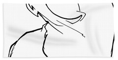 English Bulldog Gesture Sketch Hand Towel