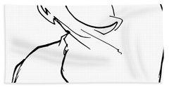English Bulldog Gesture Sketch Bath Towel
