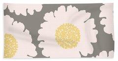 English Garden White Flower Pattern Hand Towel