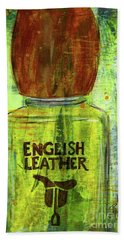 Bath Towel featuring the painting English Leather by P J Lewis