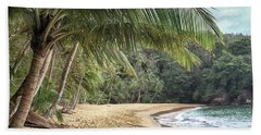 Bath Towel featuring the photograph Englishmans Bay Tobago by Rachel Lee Young