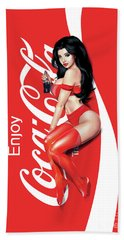 Enjoy Coca Cola Bath Towel
