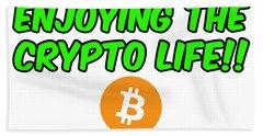 Enjoy The Crypto Life #2 Hand Towel