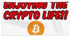Enjoy The Crypto Life #3 Hand Towel