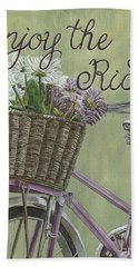 Enjoy The Ride Hand Towel by Debbie DeWitt
