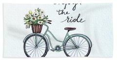 Enjoy The Ride Bath Towel by Elizabeth Robinette Tyndall