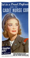 Enlist In A Proud Profession - Join The Us Cadet Nurse Corps Hand Towel