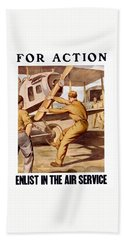 Enlist In The Air Service Hand Towel