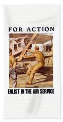 Enlist In The Air Service Bath Towel