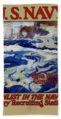 Enlist In The Navy - Help Your Country Hand Towel