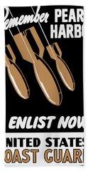 Enlist Now - United States Coast Guard Bath Towel