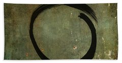 Hand Towel featuring the painting Enso #6 - As Time Goes By by Marianna Mills