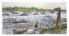 Entering Vinal Haven, Maine Hand Towel