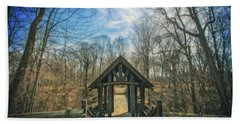 Bath Towel featuring the photograph Entrance To Seven Bridges - Grant Park - South Milwaukee #3 by Jennifer Rondinelli Reilly - Fine Art Photography