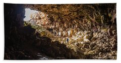 Entrance To Skull Cave Bath Towel by Marc Crumpler