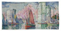 Entrance To The Harbour Of La Rochelle Hand Towel