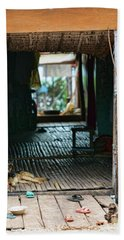Entrance To Tonle Sap Home  Hand Towel