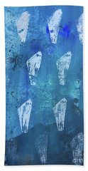 Hand Towel featuring the painting Eolith II by Robin Maria Pedrero