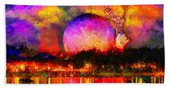 Epcot Colors By Night Hand Towel by Caito Junqueira