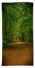 Epping Forest Walk Hand Towel by David French