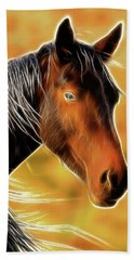 Hand Towel featuring the photograph Equine Colors by Steve McKinzie