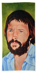 Eric Clapton Hand Towel by Neil Feigeles