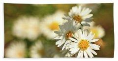 Erigeron Annuus Daisy Like Wildflower Hand Towel