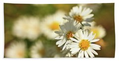 Erigeron Annuus Daisy Like Wildflower Bath Towel