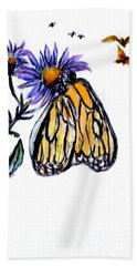 Erika's Butterfly One Bath Towel by Clyde J Kell