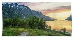 Ersfjord Sunset Bath Towel