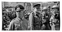 Erwin Rommel And Captured British Soldiers Tobruck Libya 1942 Color Added 2016  Hand Towel