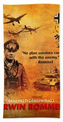 Erwin Rommel Tribute Hand Towel by John Wills