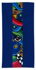 Escape To Venice - Abstract Art Painting, Modern Abstract Eye Art - Ai P. Nison Hand Towel