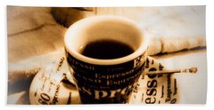 Espresso Anyone Hand Towel by MaryLee Parker