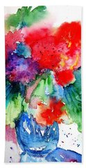 Hand Towel featuring the painting Essence Of Summer by Trudi Doyle