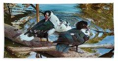 Estuary Ducks Hand Towel by Gerhardt Isringhaus