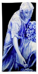 Flower Girl In Blue Hand Towel